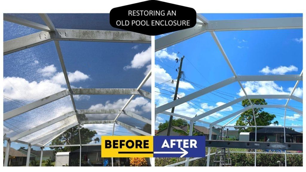 Restoring An Old Pool Enclosure In Cape Coral Gulf Coast