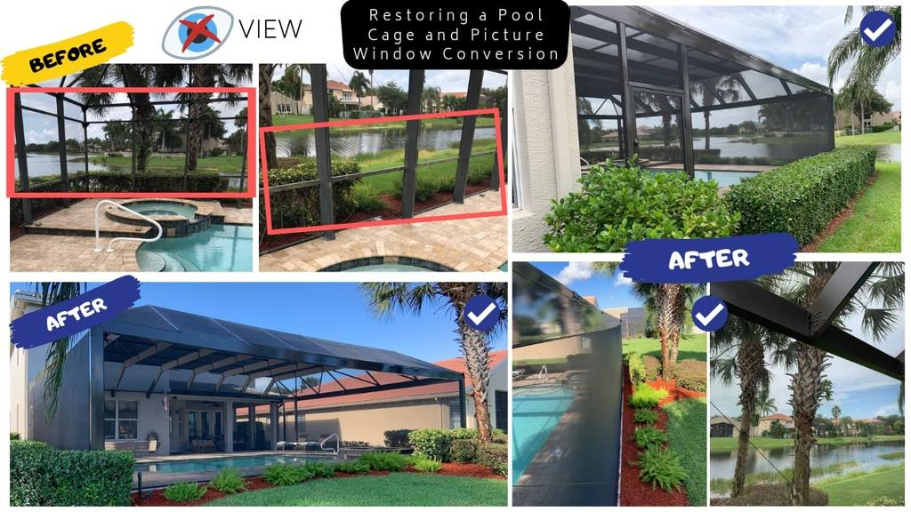 Restoring A Pool Enclosure And Picture Window Conversion